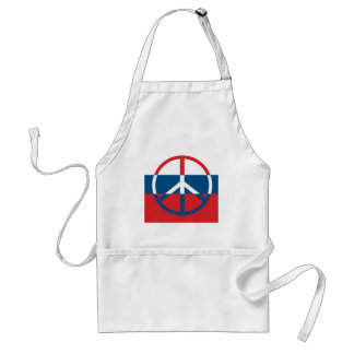 Red, White and Blue Peace Sign Standard Apron