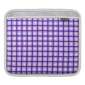 Red White and Blue Plaid iPad Sleeve