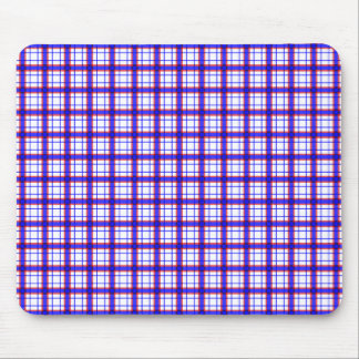 Red White and Blue Plaid Mousepads