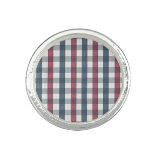 Red White and Blue Plaid Pattern