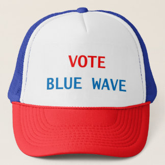 RED WHITE AND BLUE POLITICAL GENIUS TRUCKER HAT