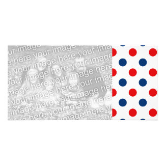Red White and Blue Polka Dots Card