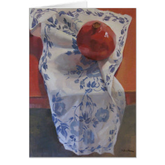 Red White and Blue Pomegranate Card