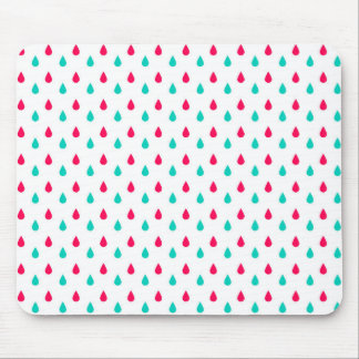 Red, White, and Blue Raindrops Design Mouse Pad