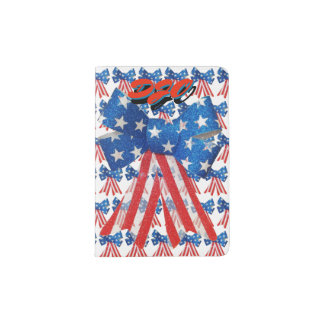 Red White and Blue Ribbon with Your Initials Passport Holder