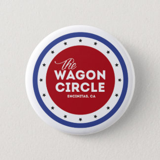 Red White and Blue Round Button