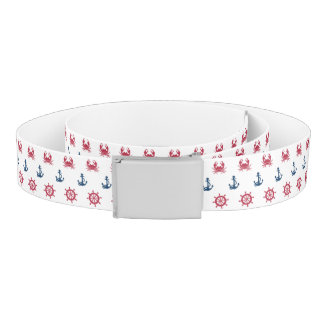 Red White And Blue Sea Symbol Pattern Belt