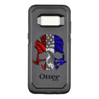 Red White and Blue Skull OtterBox Commuter Samsung Galaxy S8 Case