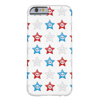 Red White and Blue Skull Stars Forever Barely There iPhone 6 Case