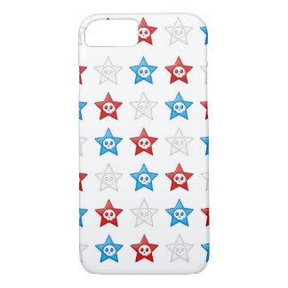 Red White and Blue Skull Stars Forever iPhone 7 Case