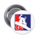 Red-White-and-Blue-Snow-Boa Pinback Buttons