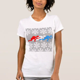 Red, white and blue speed skaters T-Shirt
