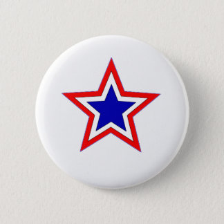 red white and blue star button