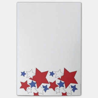 Red, White and Blue stars 4x6 post-it notes Post-it® Notes