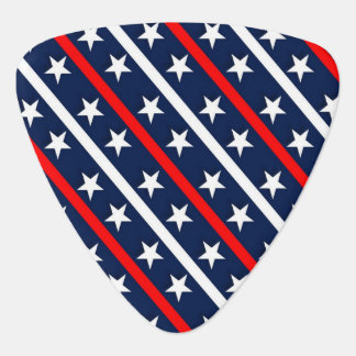Red white and blue stars and stripes background plectrum