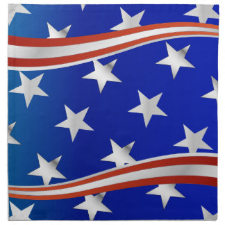 Red White and Blue Stars and Stripes Cloth Napkins