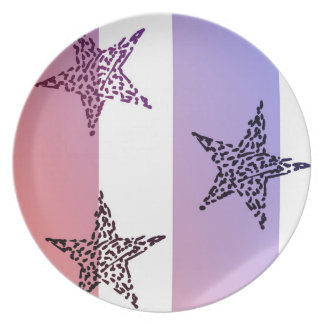 Red, White and Blue Stars and Stripes Dinner Plate