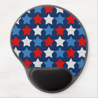 Red white and blue stars gel mouse pad