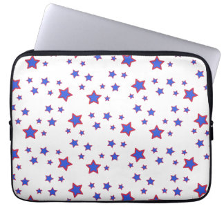 Red, White, and Blue Stars Laptop Sleeves