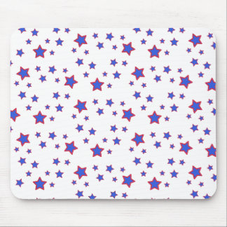 Red, White, and Blue Stars Mouse Pad