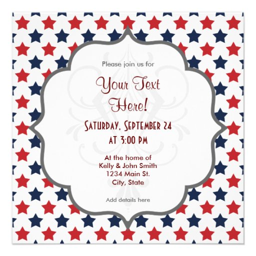 Red, White, and Blue Stars Pattern Announcements
