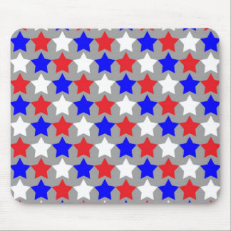 Red, white and blue stars pattern mousepad