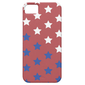 red white and blue stars phone case iPhone 5 cover