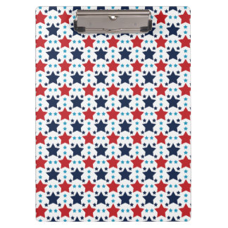 Red, White, and Blue Stars; Starry Pattern Clipboard