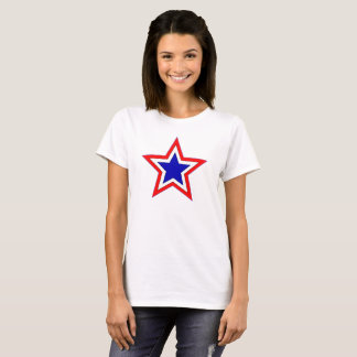 red white and blue stars tee