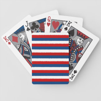 Red, White and Blue Stripe Bicycle Playing Cards