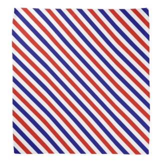 Red White and Blue Striped Bandanna