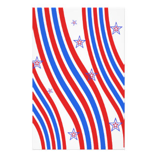 Red White and Blue Stripes and Star 14 Cm X 21.5 Cm Flyer