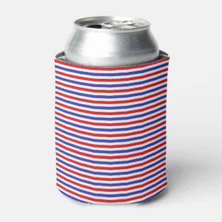 Red, White and Blue Stripes Can or Bottle Cooler
