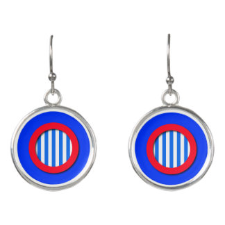 Red White and Blue Stripes Earrings