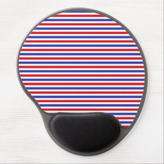 Red, White and Blue Stripes Gel Mousepad