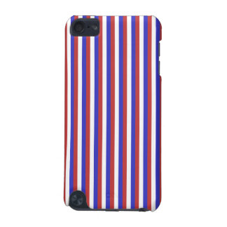 Red, White and Blue Stripes. iPod Touch (5th Generation) Case
