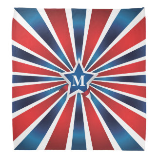 Red White and Blue Stripes Monogram Do-rags
