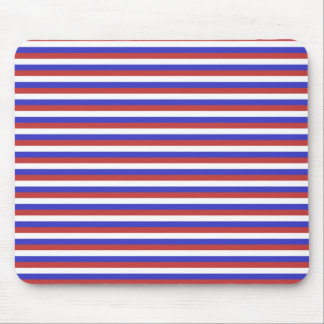 Red White and Blue Stripes Mousepads