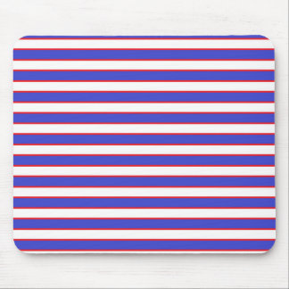 Red White and Blue Stripes Mouse Pad