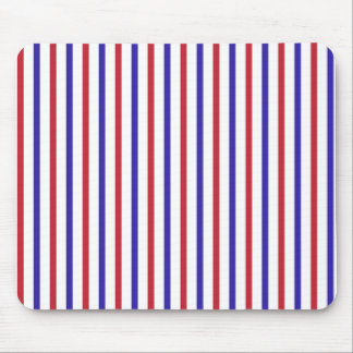 Red, White, and Blue Stripes Mouse Pad