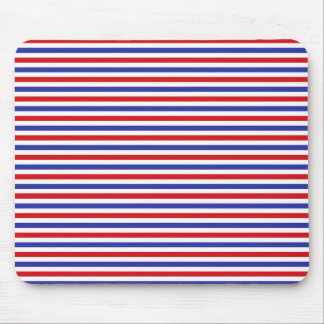 Red, White and Blue Stripes Mousepad