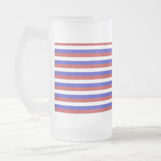 Red White and Blue Stripes Coffee Mugs
