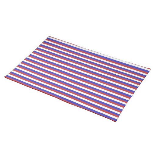 Red, White and Blue Stripes. Place Mat