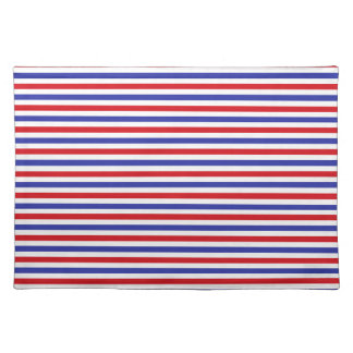 Red, White and Blue Stripes Placemat