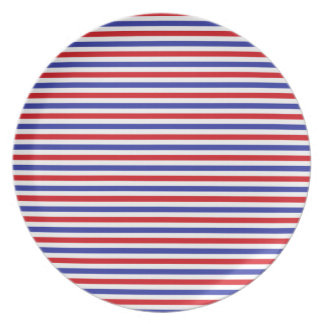 Red, White and Blue Stripes Plate