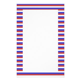 Red, White and Blue Stripes. Stationery