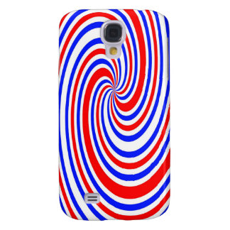 Red white and blue swirl galaxy s4 case