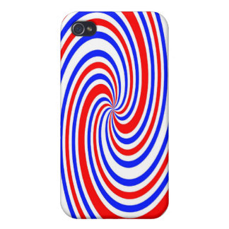 Red white and blue swirl iPhone 4/4S cover