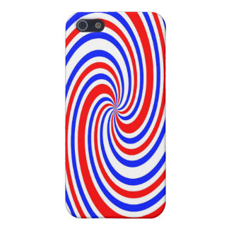 Red white and blue swirl iPhone 5 cover