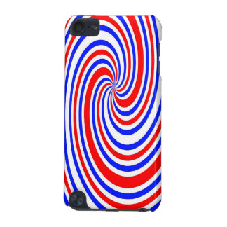 Red white and blue swirl iPod touch (5th generation) case